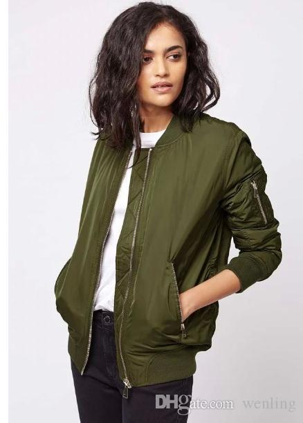 Wholesale Winter Flight Army Green Bomber Jacket Women Jacket And ...