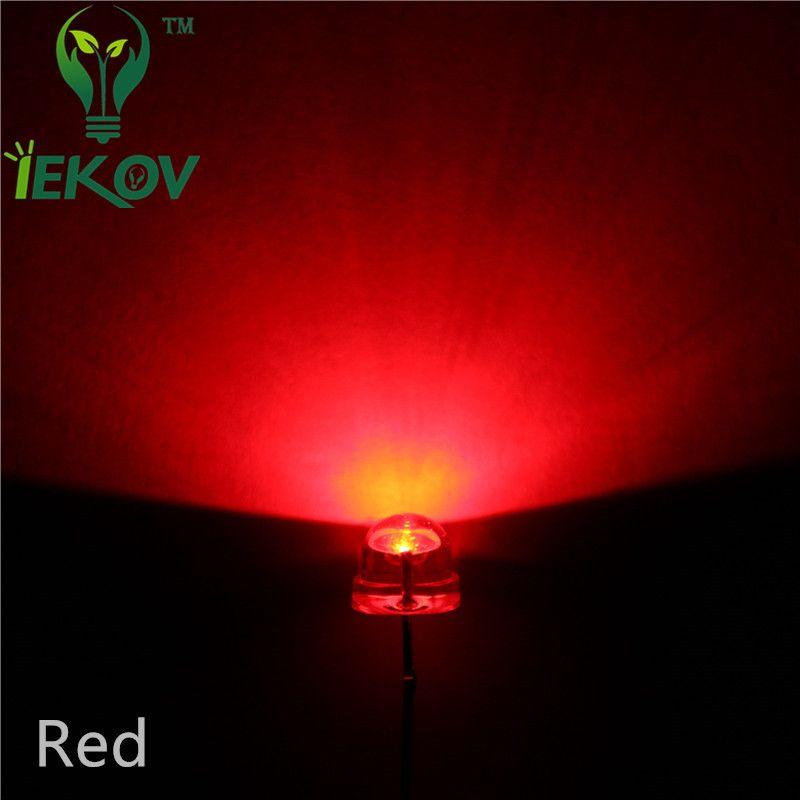 100 pcs 5mm Orange Amber Straw hat  LED Wide Angle Light Lamp New Free Shipping
