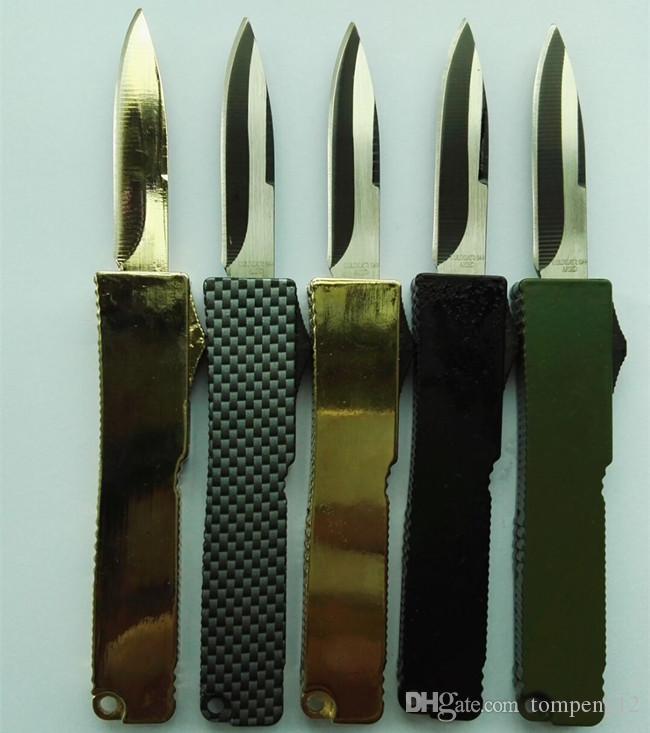 Altamente raccomandato portatile lama delicata di alluminio T6 440 campeggio regalo coltello spedizione gratuita 12 pz