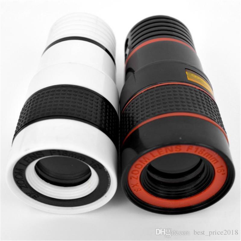 200pcs Универсальный Горячие продаж 8-кратным зумом телескопа телефото объектив камеры для Samsung S6 Примечание 5 Мобильный телефон Free DHL