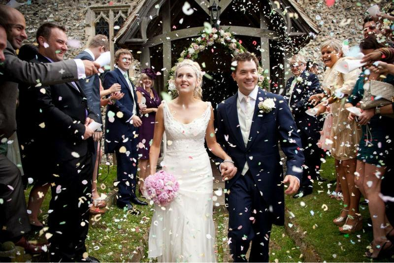 wedding confetti petals Rhiannon & Chris, 28th August 2010, Chillenden, Kent.