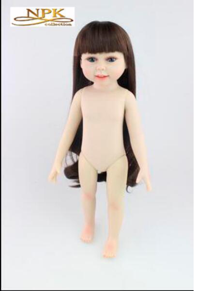 Fashion Lifelike Baby 18' Inch American Girl Doll Play Toys BDG67 Eco-friendly Brinquedos Meninas Bathing DIY Doll Cheapest Doll