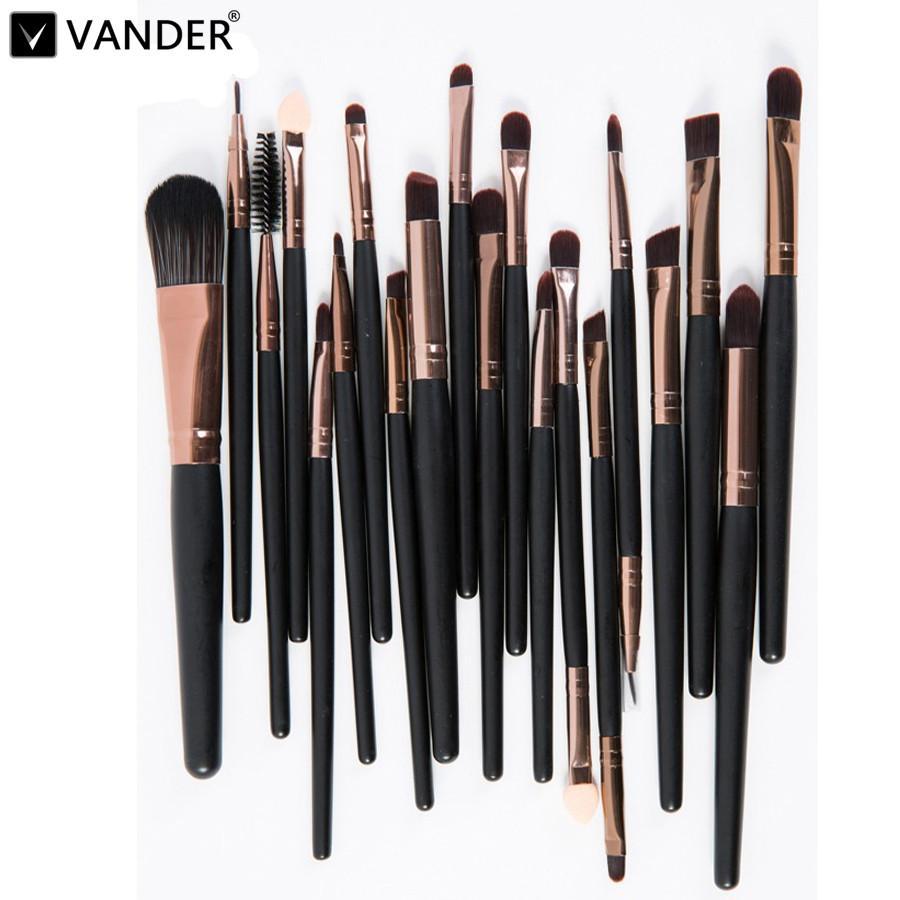 Maquillage Brosses 20pcs Ombre à paupières Rouge à lèvres Eyeliner maquillage professionnel Outils Brush Set Kit Set Cosmétique Maquiagem pour femme