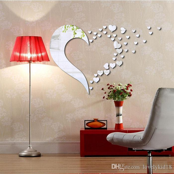 Elegant Heart Shape Mirror Face Wall Sticker Removable Wall Decals For Bedroom Living Room Home Decoration Home Decals Walls Home Decor Decals From Lovelykid18 6 65 Dhgate Com