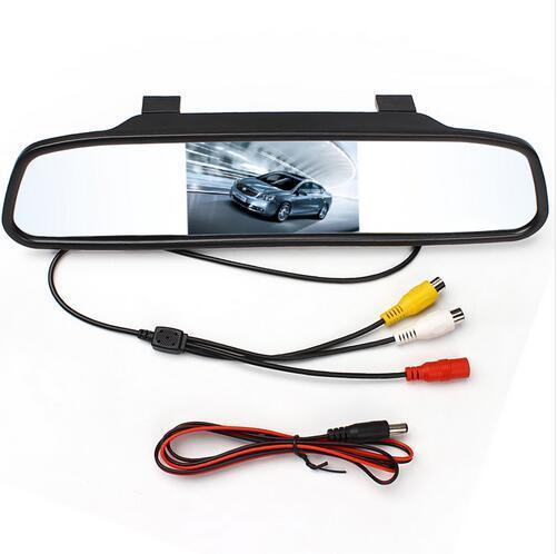 Monitor de Espelho de carro Para Câmera de Visão Traseira TFT LCD Cor Estacionamento Reversa Backup Câmera Reversa Hot 4.3 polegada