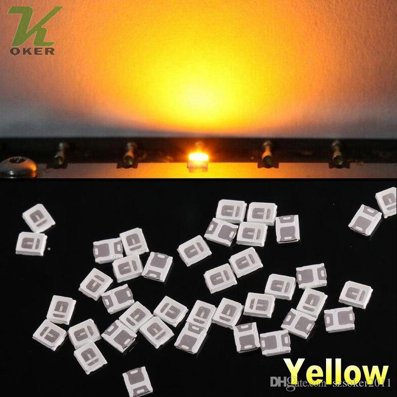 28000pcs / Reel 0.1w SMD 2835 diodi lampada a LED gialli ultra luminosi