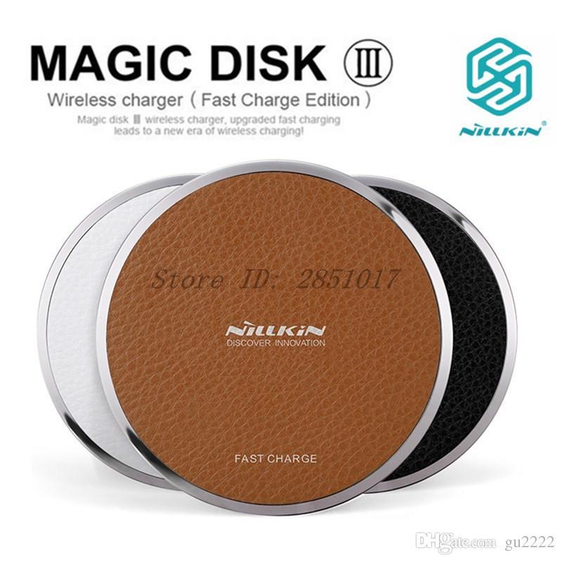 NILLKIN MagicDisk MagicCube qi carregador sem fio Para samsung s9 s8 s8 além de nota 8 para iPhone X 8 8 + qi dispositivo de carregamento sem fio