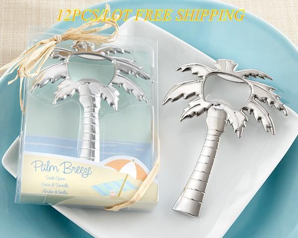 Романтическая свадьба и партия милостей Palm Tree Бутылка открывалка Свадебный подарок для пляжа свадьбы и партии украшения 12pcs / Lot освобождают перевозку груза