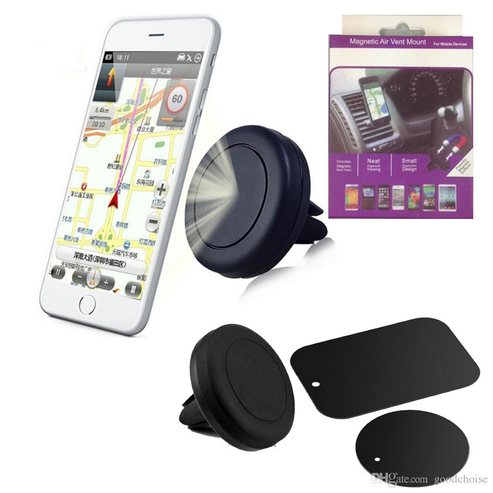 Strong Magnetic Car Holder Telefone Air Vent Mount Stand Holder 360 Degree Air Car Mount Para Smartphone com Retail Box