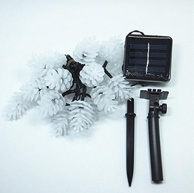 방수 LED 문자열 파인 콘 크리스마스 태양 광 조명 갈 랜드 Luminaria 야외 Led 태양 전지 패널 정원 조명