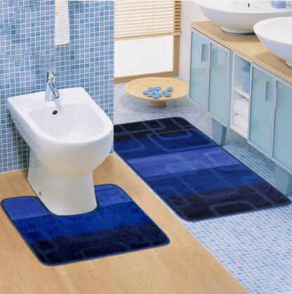 2PCS / Set Alfombra de baño moderna Set Aseo Alfombra antideslizante Alfombra Caliente Nuevo