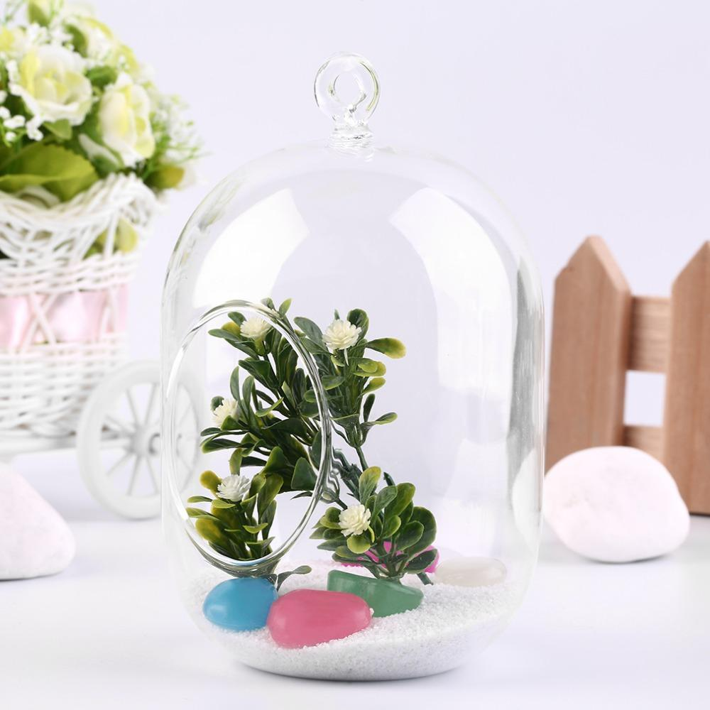 Transparent Glass Vase Hanging Terrarium Succulents Plant Landscape Home Decor for Bedroom Living Room Office