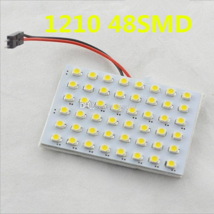 1210 SMD 48 LED 백색 독서 빛지도 된 차 램프 DC 12V 차 실내 돔 전구 + T10 BA9s 돔장 K608W