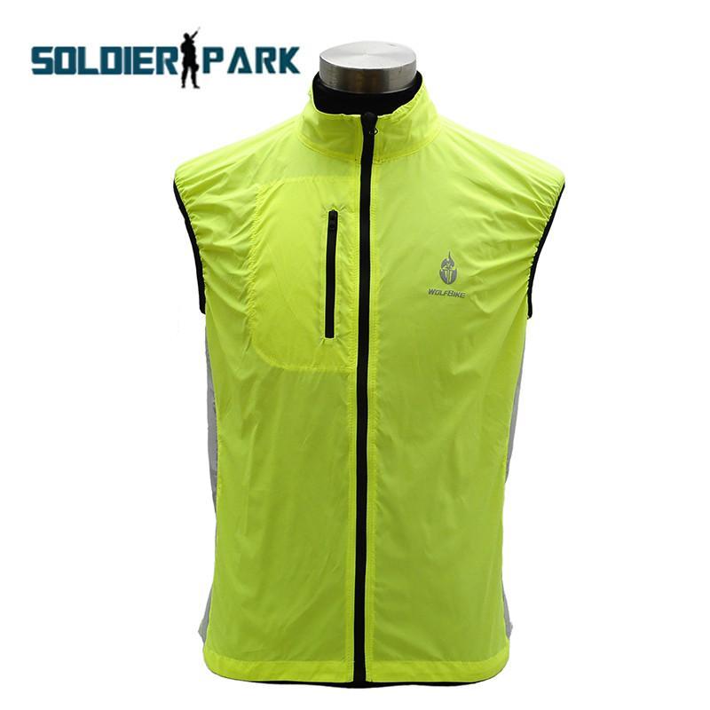 WOLFBIKE Bike Bicycle Cycling Waterproof Windproof Sleeveless Sportswear Cycling Vest Windcoat Breathable Bike Vest Green@ order<$18no track