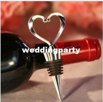 O casamento favorece presentes de prata Simplesmente elegante Heart Love metal Bottle Stopper