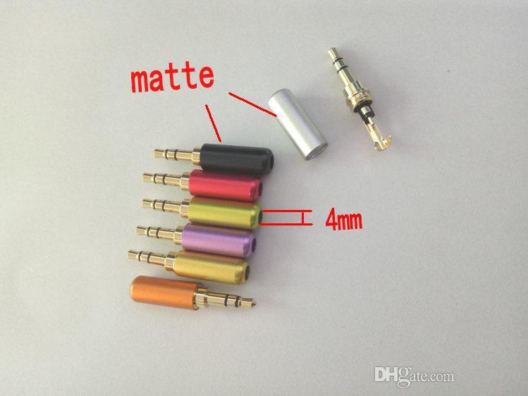 70pcs 7 couleurs mat en alliage d'aluminium coquille 3.5mm connecteur stéréo à souder connecteur
