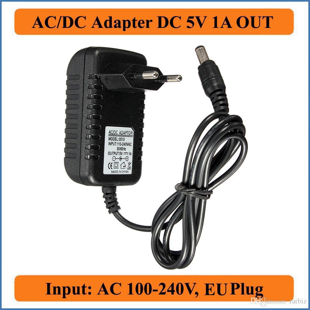 AC 100-240V Power Supply Converter Adapter 5.5mm x 2.5MM DC 5V 1A 1000mA Charger