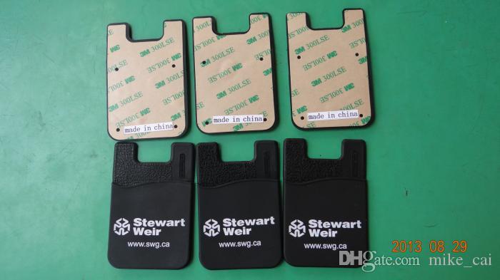 تخصيص شعار العالمي الهاتف الخليوي ملصقا بطاقة حامل 3 متر لاصق الهاتف الذكي محفظة سيليكون بطاقة حامل المحفظة ل فون 7 6 ثانية
