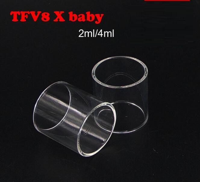SMOK TFV8 Big Baby Smok TFV8 X bebek Bebek Beast AB 2ML Vape PEN 22 TFV4 Mini TFV12 Tank Cam Tüp Temizle Pyrex Değiştirme