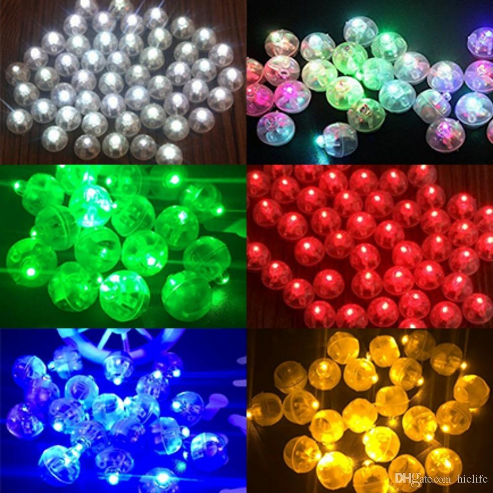 200 Pcs Round Coloured Led RGB Flash Ball Lamps Balloon Lights for Lantern Christmas Wedding Party Decoration Party Decoration