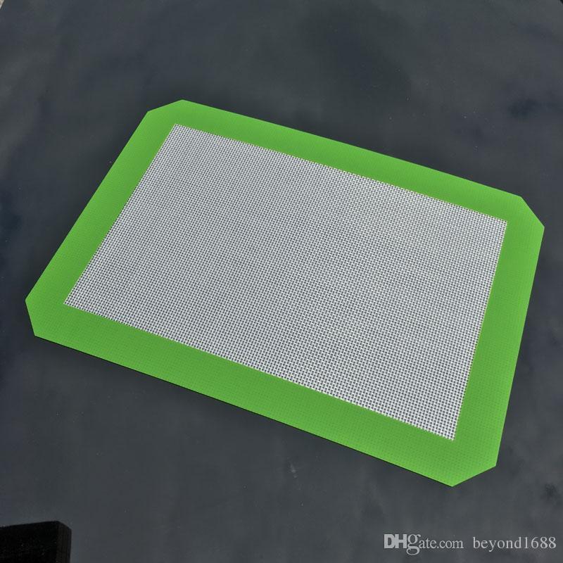 비 스틱 실리콘 베이킹 매트 30cm x 21cm (11.81 x 8.27 인치) 실리콘 베이킹 매트 DAB 오일 왁스 빵 스핀 드라이 왁스 패드