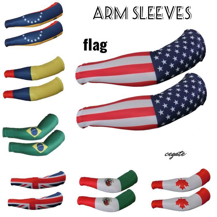 2016 New! Compression arm sleeve sport flag baseball softball football basketball camouflage more than 121 kinds of colors