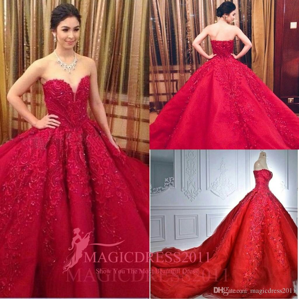 Großhandel Atemberaubende Rote Abendkleider 2016 Besondere Anlässe ...