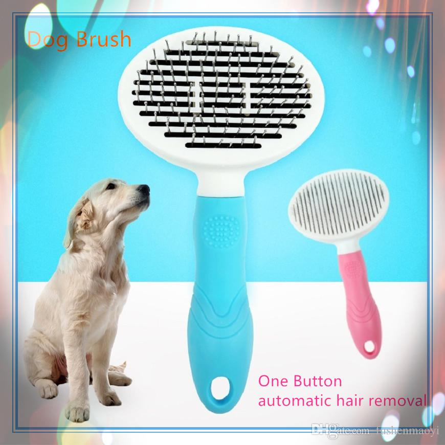 Pet Dog Deshedding Ferramenta Dog Pet Grooming Ferramenta Escova de Cão Pente de Cabelo para Cães Gatos Animais de Estimação Suprimentos para animais de Estimação