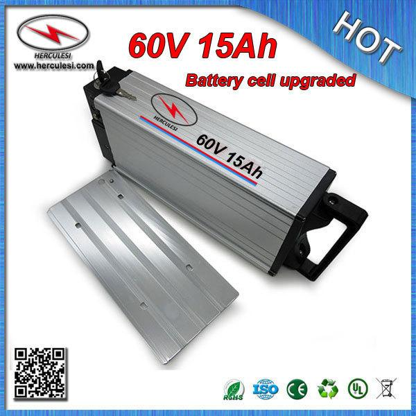 Hochwertige 1800W 60 Volt Ebike Batterie Pack 60V 15Ah Lithium Batterie mit BMS Samsung 18650 Zelle Aluminium Case + Free Charger