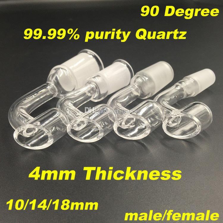 4mm di spessore club Banger Domeless chiodo del quarzo 10mm / 14mm / 18mm maschio femmina giunto 100% unghie al quarzo reale per piattaforme petrolifere bong di vetro