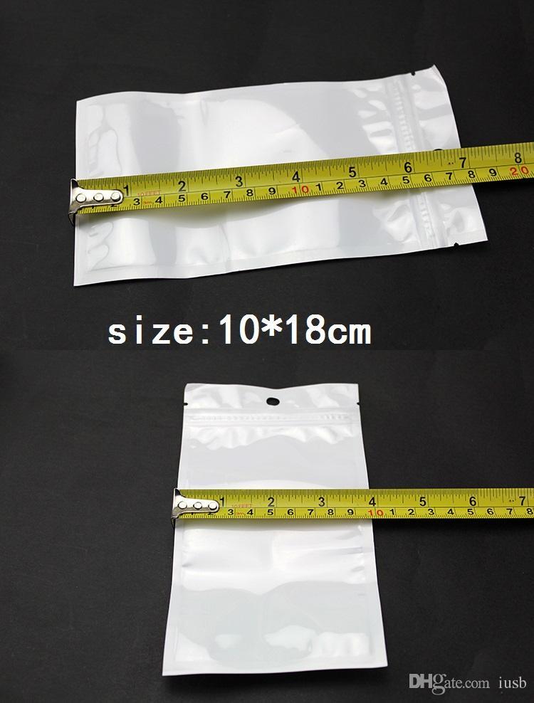 10*18 см ясно + белый жемчуг пластиковые Поли Opp упаковки страна заблокировать розничные пакеты ювелирные изделия USB мешок PVC 6*10 7*10 7.5*12 8*13 9*12 8.5*16 9*16