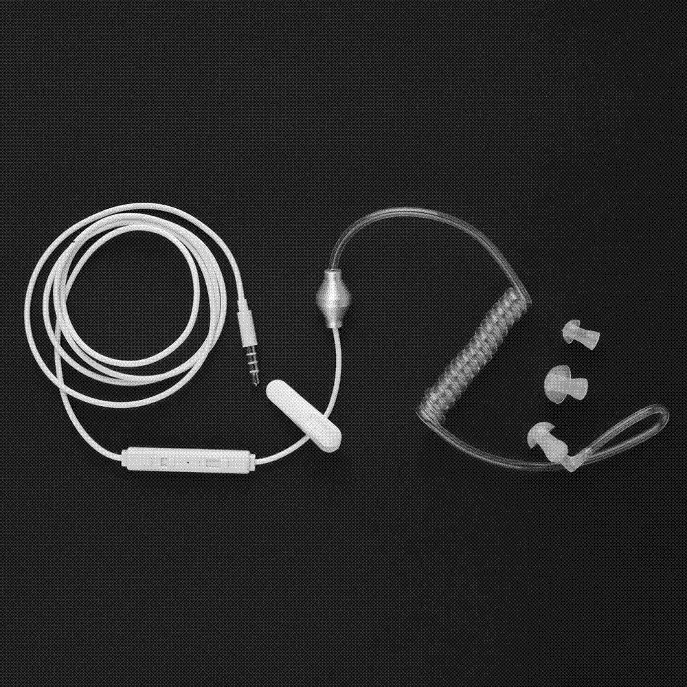 Stereo Monaural Air Tube 3.5mm Anti Radiation Earphone Earphones For Phone MP3 Cheap earphone store