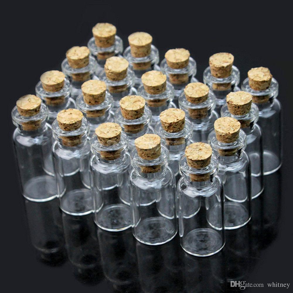 코르크 40MMX22MMX18MM 결혼식 호의 병 유리 병을 바라는 2000X 투명 유리