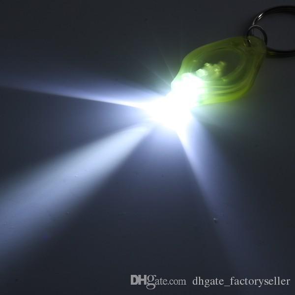 800pcs 20000mcd linterna LED blanco antorcha llaveros anillo llaveros luz blanca linterna led llavero antorcha de luz llaveros