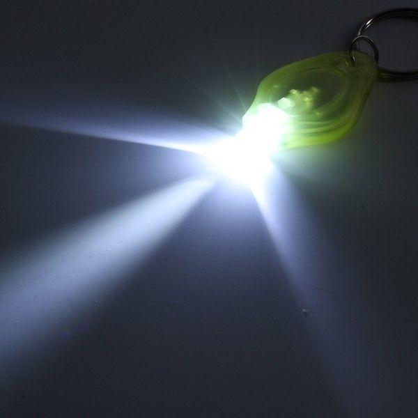 800 adet 20000 mcd LED El Feneri Beyaz Torch Anahtarlıklar Halka Anahtarlıklar Beyaz Işık LED El Feneri Anahtarlık Torch Işık Anahtar Zincirleri