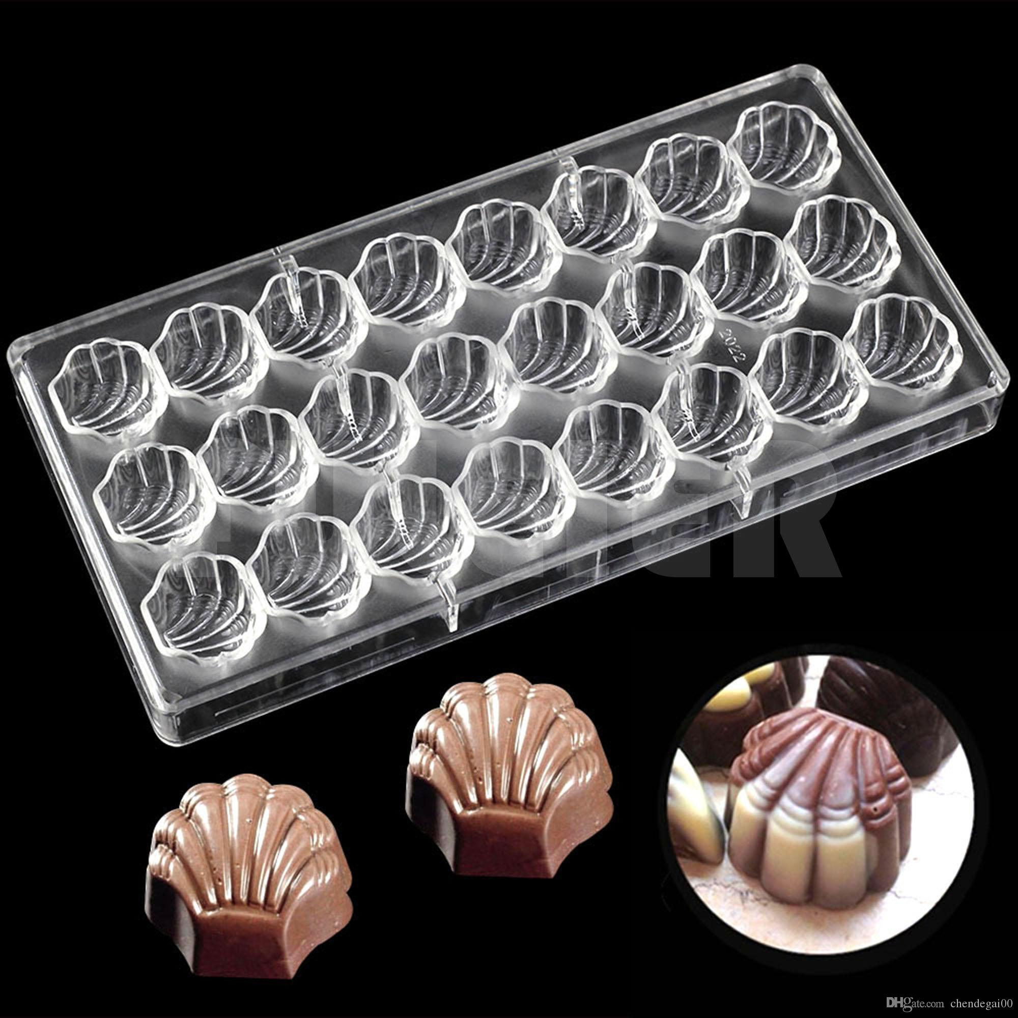 DIY Plastic Shell shape Chocolate making Mold , wedding party kitchen baking Pastry Tools Cake Molds candy and chocolate molds