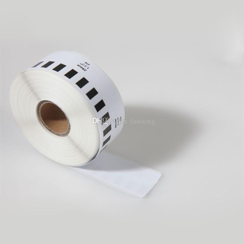 9 x Rolls Brother DK 22210 2210 Kompatibla kontinuerliga etiketter 29mm x 30.48m QL 570 580 700 720 1050 1060