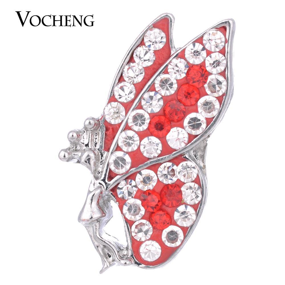 VOCHENG NOOSA 18mm Joli Papillon Gingembre Snap 4 Couleurs Bouton Interchangeable Vn-1054