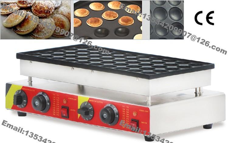 Free Shipping 50-hole Commercial Use Non Stick Mini Dutch Pancake Poffertjes Machine Baker Grill Maker Iron Mold Plate