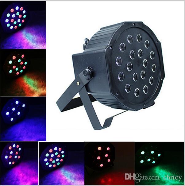 높은 전력 18W 18Leds RGB 무대 조명 전문 RGB 파 빛 DMX-512 파티 DJ 디스코 스트로브 빛 레이저 프로젝터