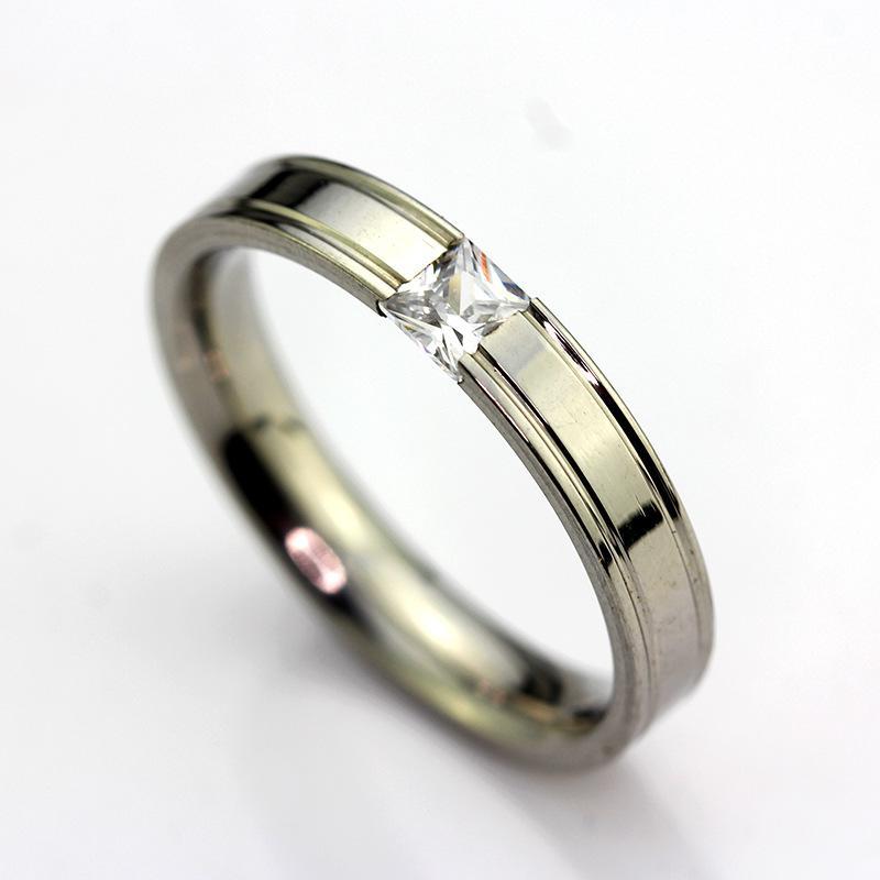 Nagelneue Spitze 15PCS silberne polierte quadratische Zirkon-Edelstahl-Art und Weiseschmucksache-Ringe bequem zu tragen
