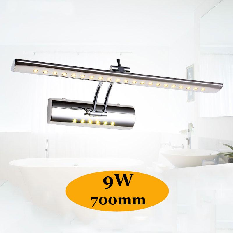 2019 700mm Adjustable Bathroom Light Above Mirror Cabinet 85 265v 9w Coolwarm White Vanity Wall Lamp Fixture With Switch Arandela From Cactusshaw