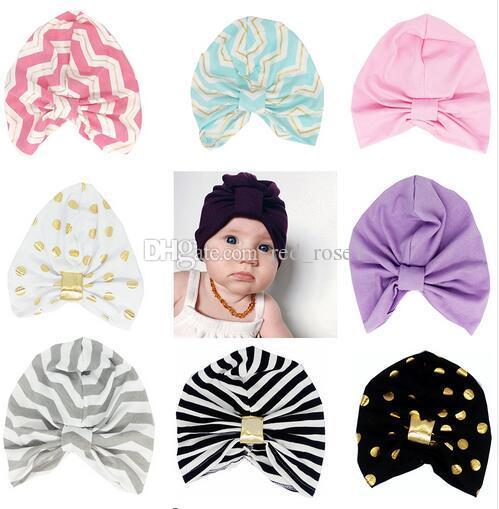 19 couleurs chapeaux bébé chapeaux pour garçons et filles automne hiver chapeaux enfants chapeaux de noeud d'enfants