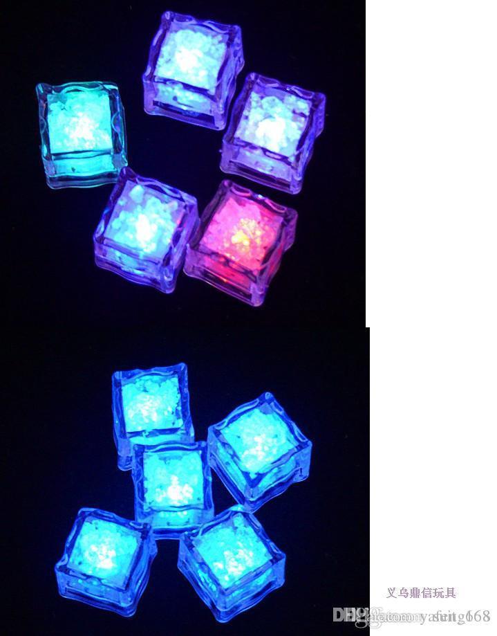 Livraison gratuite whilesale Lumineux glace / LED fluorescent bloc / coloré Ice lampe à induction bar en gros de mariage fournitures usine directe