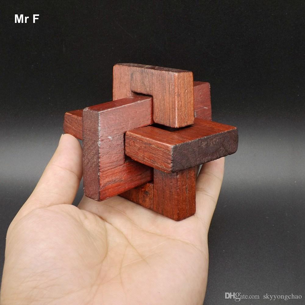 Schräg Dreidimensionale Holzspielzeug Kong Ming Sperre Erwachsene Kinder Interaktives Spiel Kinder Geschenke Lehrmittel Pädagogisches Spielzeug