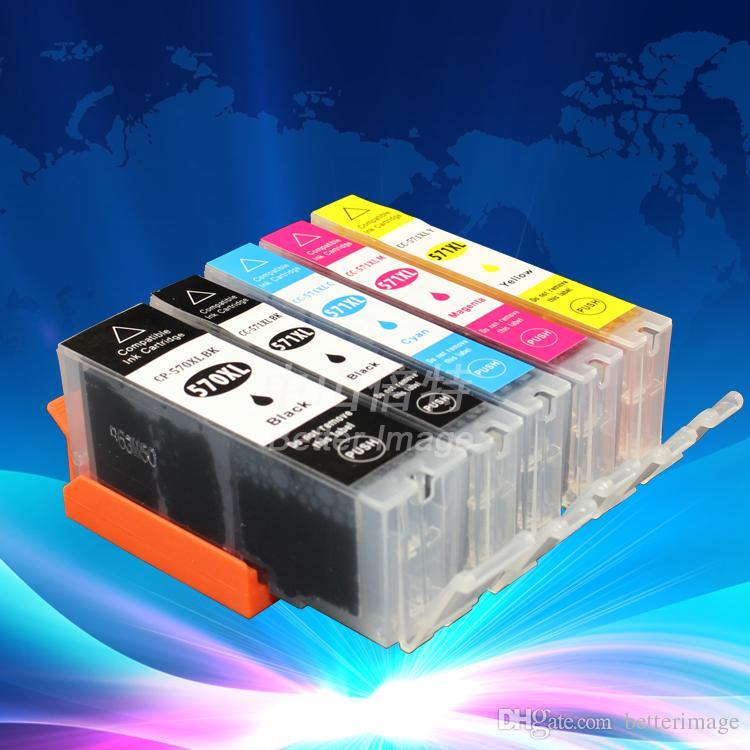 5 Pack de Alta Capacidade Cartuchos de Tinta para PGI-570 CLI-571 adequado para MG5750 MG5751 MG5752 MG5753 MG6850 etc, frete grátis