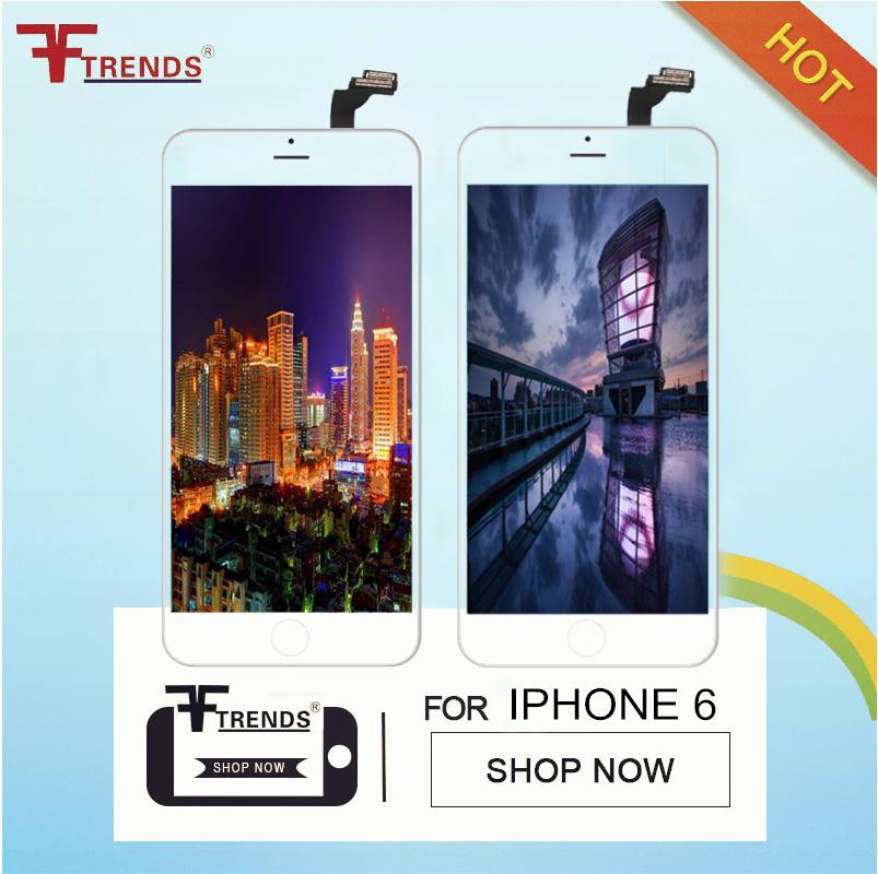 Beyaz Siyah LCD Ekran Dokunmatik Digitizer Komple Ekran ile Çerçeve Tam Meclisi Değiştirme iPhone 6 5 5 S 100% Test