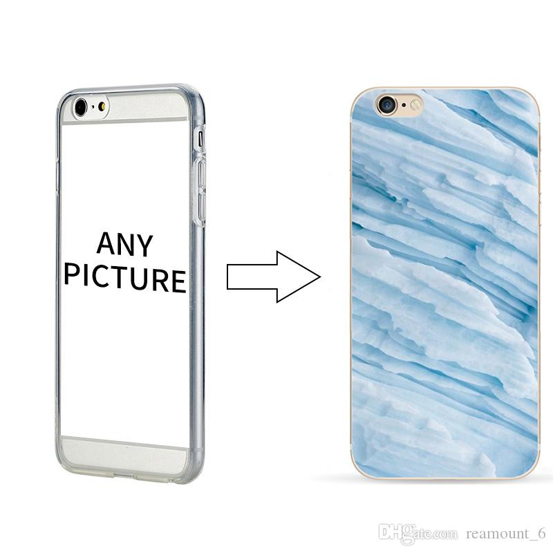 100pcs Wholesale Marble Case for iPhone 7 7 Plus Your Own LOGO Picture Can be Printed Custom Cell Phone Protection for iPhone 8
