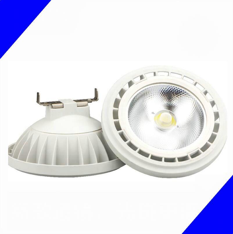 Dimmable LED AR111 LED Spotlight 12W COB LED AR111 dimmable, ES111, QR111, GU10 / G53 en option, 12VDC ou AC85-265V AR111 lampes lumières