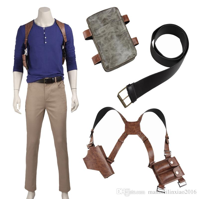 New Game Cos Uncharted 4 A Thiefs End Nathan Drake Cosplay Costume